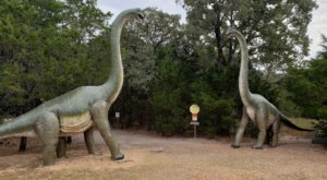 There's A Dinosaur Themed Playground In Texas Called The Dinosaur Park