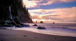 Visit Third Beach In Washington, A Hidden Gem Beach That Has Its Very Own Waterfall