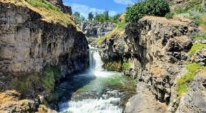 Hike Less Than 1 Mile To This Spectacular Waterfall Swimming Hole In Oregon
