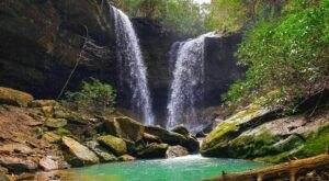 Plan A Visit To Pine Island Double Falls, Kentucky's Beautifully Blue Waterfall