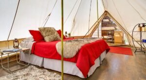 You Can Stay In A Canvas Tent On A Vineyard At Vino Camp Sawtooth In Idaho