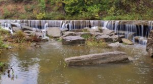Hike Less Than Half A Mile To This Spectacular Waterfall Wading Pool In Kansas