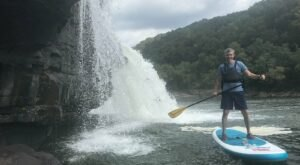 Explore Kanawha Falls By Stand Up Paddleboard For A One-Of-A-Kind West Virginia Adventure
