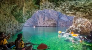 Hop In A Glass-Bottom Kayak And Tour An Emerald Cave In Arizona