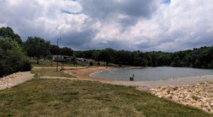 The Cleanest, Most Pristine Sand In Iowa Is Found At The Underrated Lake Icaria Beach