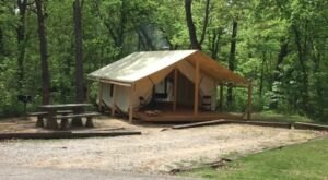 Stay Overnight In A Glorified Tent At Osage Hills State Park In Oklahoma