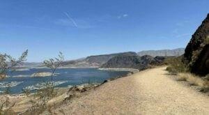 Walk Or Ride Alongside Lake Mead On The 8-Mile Railroad Tunnel Trail In Arizona