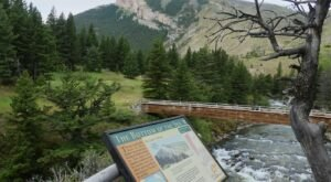 Hike Less Than Half A Mile To This Spectacular Waterfall Picnic Area In Montana