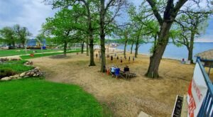 The Water Is A Brilliant Blue At The Arnolds Park Beaches, Refreshing Roadside Stops In Iowa