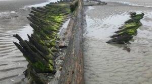 Visit Higgins Beach In Maine, A Hidden Gem Beach That Has Its Very Own Boat Skeleton