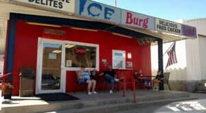 Cool Off With A Tasty Ice Cream Cone At The Ice Burg In Washburn, North Dakota