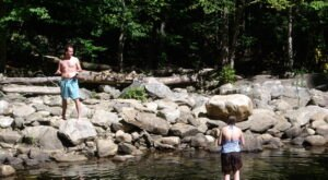 Visit Pikes Falls In Vermont, A Hidden Gem Beach That Has Its Very Own Waterfall