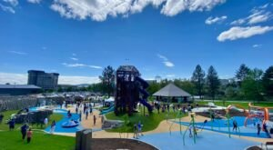 There's An Ice Age Themed Playground And Splash Pad At Riverfront Park In Washington
