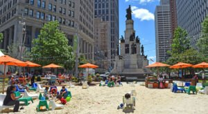 There's A Marvelous Manmade Beach Smack Dab In The Middle Of Michigan's Largest City