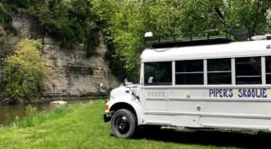 A Stay In A Repurposed School Bus On The Iowa River Offers a Unique Chance To Relax And Unwind