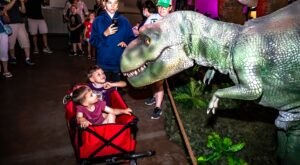You Can Walk Around Life-Size Dinosaurs At Dino Stroll In Colorado