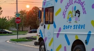 Indulge In Magically Colorful Ice Cream From Little Ladies Soft Serve, An Ohio Food Truck Worth Finding
