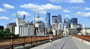 Take A Walk Across The Stone Arch Bridge, Minnesota's Most Famous Pedestrian Bridge, For Breathtaking Views Of Minneapolis
