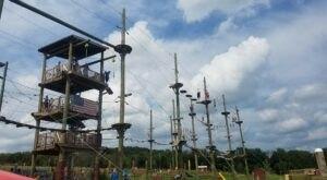 Free Fall 30 Feet On This Thrilling Zipline At Hellerick's Family Farm In Pennsylvania