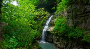 Discover A Pristine Paradise When You Visit Arkansas's Tunnel Cave Falls