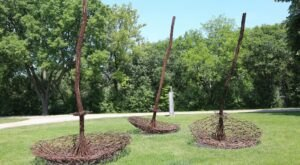 You Can See Over 60 Sculptures On A Hike Around Skokie Northshore Sculpture Park In Illinois