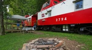 Spend The Night In An Authentic 1900s Railroad Caboose In The Middle Of West Virginia's National Quiet Zone