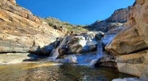 Visit Tanque Verde Falls In Arizona, A Hidden Gem Beach That Has Its Very Own Waterfall