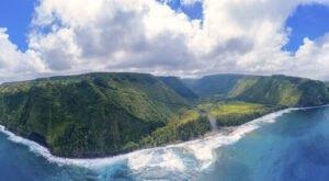 Visit Waipio Beach In Hawaii, A Hidden Gem Beach That Has Its Very Own Waterfall