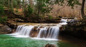 It's Easy To Miss Drawdy Falls, A Roadside Waterfall In Boone County, West Virginia