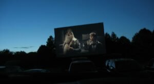 Skip The Campfire and Go To A Drive-In Movie Theater That's Next To A Scenic Lakefront Campground In Wisconsin