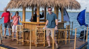 Experience The Most Unique Party In Tennessee On A Floating Tiki Bar At Cruisin' Tikis