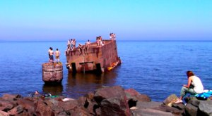 There's An Old Ruin In Lake Superior That Happens To Be A Popular Minnesota Swimming Spot