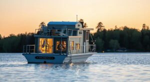 Wake Up On The Water With A Stay On This Rural Houseboat In Maine