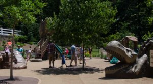 There's A Dinosaur-Themed Playground In New Jersey Called Prehistoric Playground
