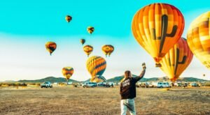 Soar Over The Arizona Desert In A Hot Air Balloon, Then Enjoy A Gourmet Lunch With Hot Air Expeditions