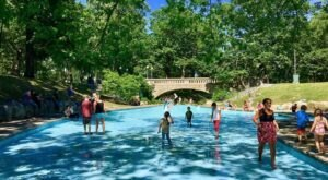 This Secret Summer Wading Pool Is An Oasis Within A Maine City Park