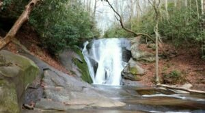 Take A Short 0.2-Mile Hike To The Swimming Hole At Widow's Creek Falls In Stone Mountain State Park In North Carolina