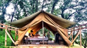 Sleep Among Towering Oaks At The Luna Valley Farm Glampground In Iowa