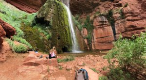 Swim Underneath A Waterfall At This Refreshing Natural Pool In Arizona