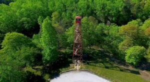 Take In The Landscape Outside Of Cleveland Atop The Mohican Fire Tower Overlook