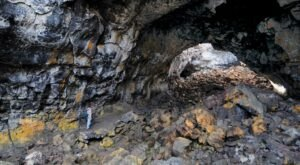 This 1.6-Mile Trail Takes You To Four Popular Caves At Craters Of The Moon In Idaho