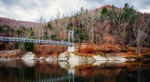 Walk Across A 224-Foot Suspension Bridge On Long Trail In Vermont
