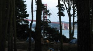 Kirby Cove Is A Tucked-Away Campground In Northern California With A Magnificent View Of The Golden Gate Bridge