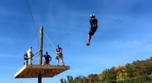 Reach Speeds Of Up To 50 Miles An Hour On The Thrilling Zipline At Adventure Valley In Missouri