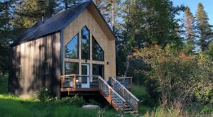 Be Dazzled By Glacier Views From The Windows Of This Modern Cabin In Alaska