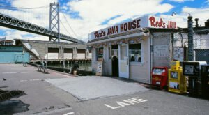 Enjoy Views Of The Bay Bridge With A Burger At The Legendary Red's Java House In Northern California