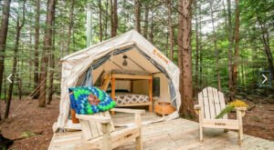 Snug Life Camping Near The Souhegan River In New Hampshire Lets You Glamp In Style