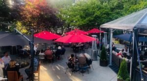 Enjoy Creative Cocktails And Cuisine On A Dreamy Garden Patio At Bake's Place In Washington