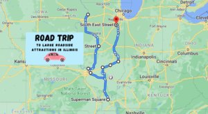 Take This Road Trip To See Some Of The Largest Roadside Attractions In Illinois