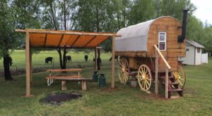 Sleep In A Sheep Camp Wagon When You Stay At Wonderland RV Park In Utah